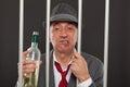 Business man drunk in jail