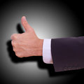 Business man with empty hand showing thumbs up Stock Images