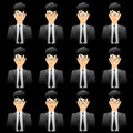 Business man Facial expressions Stock Images
