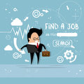 Business Man Find Job Curriculum Vitae Recruitment Candidate Position, CV Profile