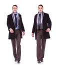 Business man full body walking Stock Photography