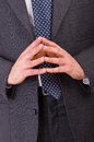 Business man gesturing both hands Royalty Free Stock Images