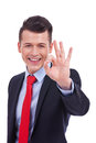 Business man giving you OK sign Royalty Free Stock Photography