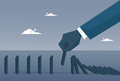 Business Man Hand Chart Bar Falling Economic Fail Crisis Concept Royalty Free Stock Photo
