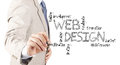 Business man hand drawing web design diagram Royalty Free Stock Photo