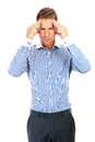 Business man having a stress headache Royalty Free Stock Photo