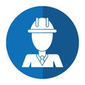 Business man helmet contruction manager shadow