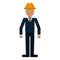 Business man helmet contruction manager