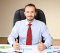 Business man at his workplace Royalty Free Stock Photo