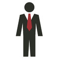 Business man icon clean flat with two colors Royalty Free Stock Images