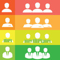 Business man icons set people profile silhouettes icon Royalty Free Stock Image