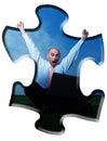 Business man jubilating Stock Photo