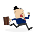 Business man is late for work Royalty Free Stock Photo