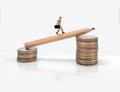 Business man miniature figure concept move to success business f