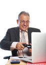 Business man play games Royalty Free Stock Photo