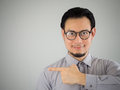 Business man pointing. Royalty Free Stock Photo