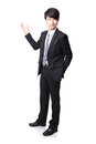 Business man presenting in full length Stock Photography