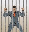 Business man Prisoner Royalty Free Stock Photo