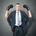 Business man protection Royalty Free Stock Photo