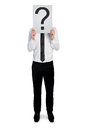 Business man with question mark Royalty Free Stock Photo