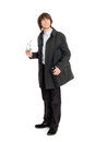 Business man in a raincoat Royalty Free Stock Photo