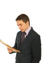 Business man reading newspaper Royalty Free Stock Photo