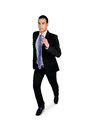 Business man running away isolated Royalty Free Stock Photos