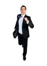 Business man running away isolated Royalty Free Stock Photography