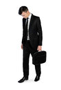 Business man sad walk Royalty Free Stock Photo