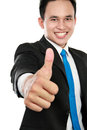 Business man showing thumbs up sign Royalty Free Stock Images