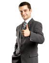 Business Man Shows Well Done Royalty Free Stock Photography