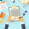 Business Man Signature Document Signing Up Royalty Free Stock Photo