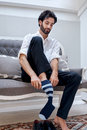 Business man socks Royalty Free Stock Photo