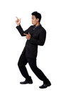 Business man Stance pointing isolated Royalty Free Stock Photo