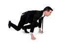 Business man start run isolated Stock Image