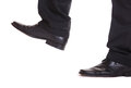 Business man step foot trample closeup Stock Photo