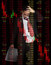 Business man in stock investment concept bear market Royalty Free Stock Photo