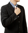 Business man in suit and tie Stock Photo