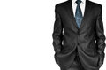Business man in suit on a white background Royalty Free Stock Image