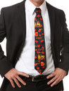 Business Man with Themed Tie Stock Photos