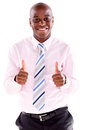Business man with thumbs up Royalty Free Stock Photo