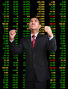 Business man in tock investment concept bull market stock Stock Photo
