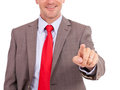 Business man touching screen Royalty Free Stock Photo