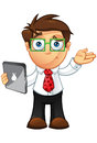 Business Man - Unsure With Laptop Royalty Free Stock Photo