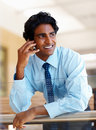 Business man using a mobile phone Stock Images