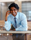 Business man using a mobile phone Royalty Free Stock Image