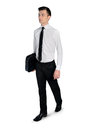 Business man walk away isolated Royalty Free Stock Photo