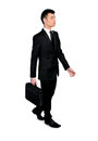 Business man walk isolated side view Royalty Free Stock Photo