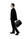 Business man walk side Stock Image