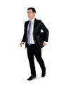Business man walk side isolated Royalty Free Stock Image